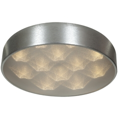 Access Lighting Meteor Brushed Silver LED Flushmount Light