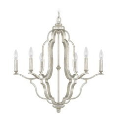 Capital Lighting Blair Antique Silver Chandelier