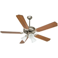 Craftmade Pro Builder 205 Brushed Satin Nickel Ceiling Fan with Light