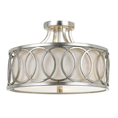 Crystorama Lighting Graham Antique Silver Semi-Flushmount Light