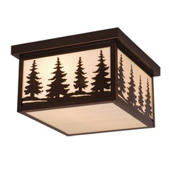 Yosemite Burnished Bronze Outdoor Ceiling Light by Vaxcel Lighting