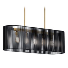 Kichler Lighting Linara 5-Light Black Island Light