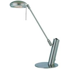 Lite Source Lighting Halo Polished Steel Desk Lamp