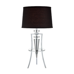 Lite Source Lighting Triocof Chrome / Black Table Lamp with Drum Shade