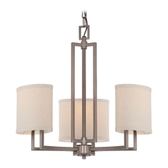 Modern Mini-Chandeliers in Hazel Bronze Finish