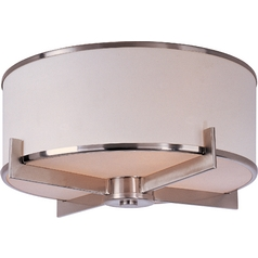 Modern Satin Nickel Flushmount Ceiling Light