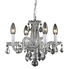 Traditional Crystal Chandelier Light in Polished Chrome