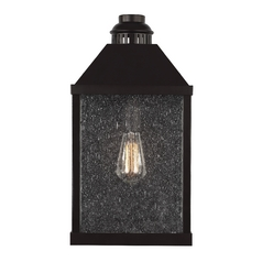 Seeded Glass Outdoor Wall Light Oil Rubbed Bronze Feiss Lighting