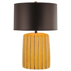 Minka Lavery Yellow Table Lamp with Drum Shade