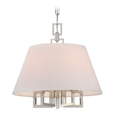 Crystorama Lighting Westwood Polished Nickel Pendant Light with Empire Shade