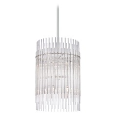 Hudson Valley Lighting Wallis Polished Nickel Pendant Light with Cylindrical Shade