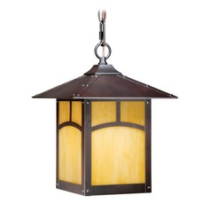 Mission Ii Espresso Bronze Outdoor Hanging Light by Vaxcel Lighting
