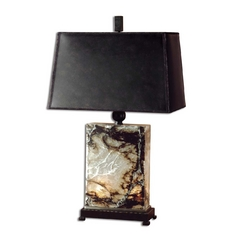 Table Lamp with Black Shades in Black Finish