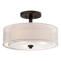 Minka Smoked Iron Parsons Studio Semi-Flushmount Ceiling Light