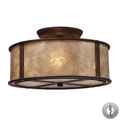 Barringer Aged Bronze Semi-Flushmount Light - Includes Recessed Adapter Kit