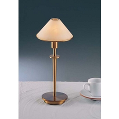 Holtkoetter Modern Table Lamp with Alabaster Glass in Antique Brass Finish