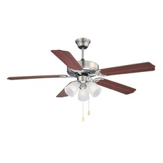 Savoy House Satin Nickel Ceiling Fan with Light