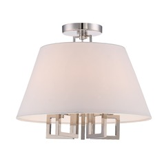 Crystorama Lighting Westwood Polished Nickel Semi-Flushmount Light