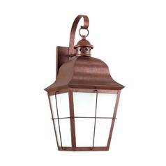 Frosted Seeded Glass Outdoor Wall Light Copper Sea Gull Lighting