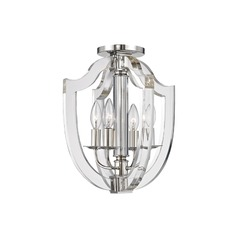 Hudson Valley Lighting Arietta Polished Nickel Semi-Flushmount Light