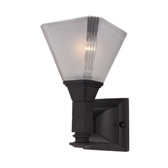 Maxim Lighting Sconce Wall Light with White Glass in Oil Rubbed Bronze Finish 11076FTOI