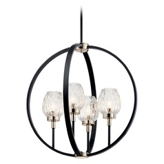 Kichler Lighting Moyra 4-Light Black Chandelier