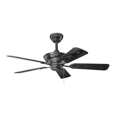 Kichler Lighting Trent Satin Black Ceiling Fan Without Light