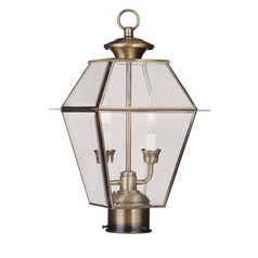 Livex Lighting Westover Antique Brass Post Light