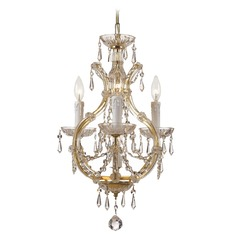 Crystorama Maria Theresa 4-Light Crystal Chandelier in Polished Chrome