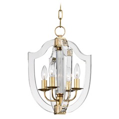 Hudson Valley Lighting Arietta Aged Brass Pendant Light