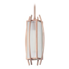 Craftmade Lighting Kodo Brushed Copper Mini-Pendant Light with Rectangle Shade