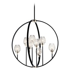 Kichler Lighting Moyra 8-Light Black Chandelier