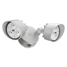 LED Security Light in White Finish
