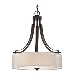 Minka Lighting Smoked Iron Parsons Studio Pendant Light