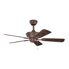 Kichler Lighting Kichler Lighting Trent Tannery Bronze Powder Coat Ceiling Fan Without Light 339524TZP