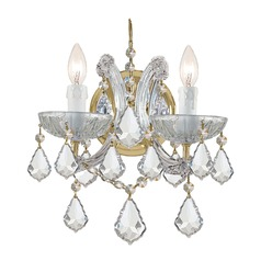 Crystorama Lighting Maria Theresa Gold Sconce
