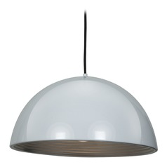 Access Lighting Astro Glossy White / Silver Pendant Light