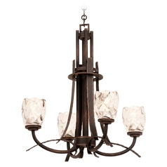 Kalco Lighting Penrith Antique Copper Chandelier