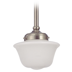 8-Inch Period Lighting Schoolhouse Mini-Pendant Light