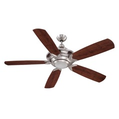 Craftmade Lighting Vesta Stainless Steel Ceiling Fan with Light
