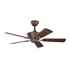 Kichler Lighting Trent Weathered Copper Powder Coat Ceiling Fan Without Light