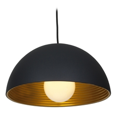 Access Lighting Astro Black Pendant Light with Bowl / Dome Shade