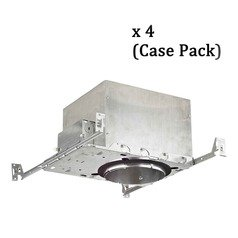 Recesso 6-Inch Recessed Can Light - IC & Airtight - Case Pack of 4