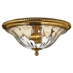 16-1/4-Inch Brass Flushmount Ceiling Light