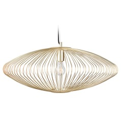 Nuevo Lighting Maia Gold Cage Pendant Light