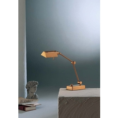 Holtkoetter Modern Swing Arm Lamp in Antique Brass Finish