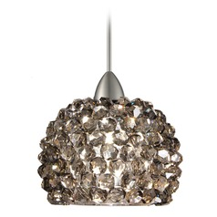 WAC Lighting Gia Brushed Nickel LED Mini-Pendant Light with Bowl / Dome Shade