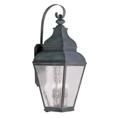 Livex Lighting Exeter Vintage Pewter Outdoor Wall Light