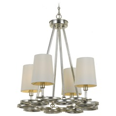 Crystorama Graham 4-Light Mini Chandelier in Antique Silver