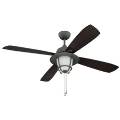 Craftmade Lighting Morrow Bay Aged Galvanized Ceiling Fan with Light